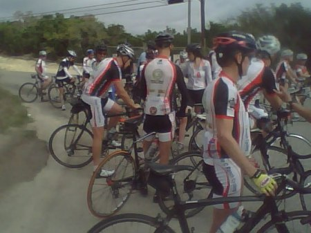 Some of the A riders at the turnaround.