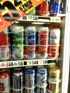 At the Kyle convenience store, I came across a weird combination I've never seen before. Hangover remedy?