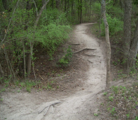 "A ""whoop-de-doo"" on a narrow trail."